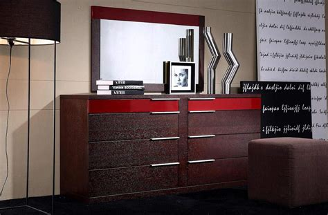 drawers dresser wenge wood grain red details shop modern italian luxury furniture prime classic design
