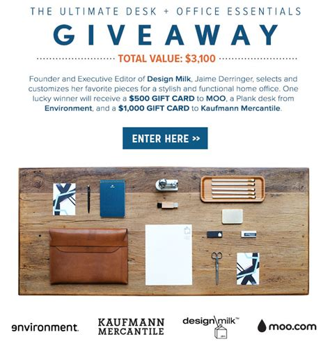 The Office Giveaway - the ultimate desk office essentials giveaway design milk