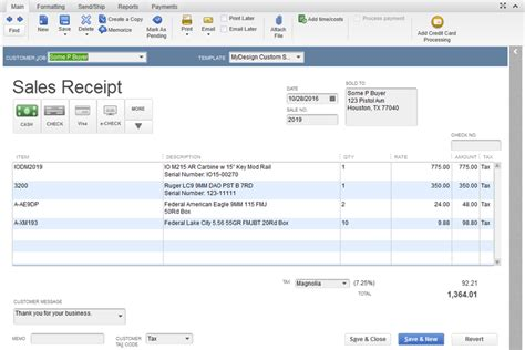 How To Change Sales Receipt Template In Quickbooks by Generating A Sales Receipt