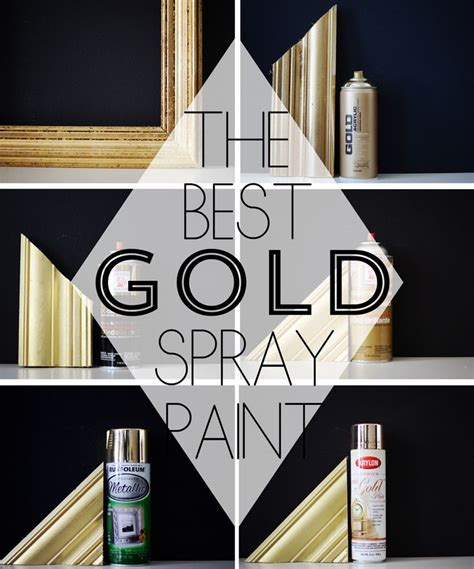 the best gold spray paint tips