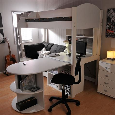 Stompa High Sleeper With Desk And Futon by Stompa Casa 4 High Sleeper With Sofa Bed Pull Out Desk