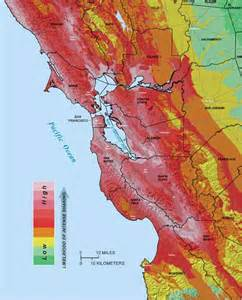 earthquake zone map california