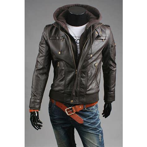 Sale Jaket Hoodie mens leather jacket sale s leather jacket hoodie