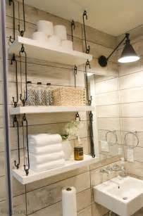 Shelf Ideas For Bathroom by 25 Best Ideas About Bathroom Shelves On Pinterest Half