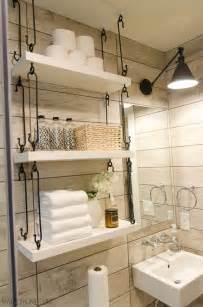 Amazing bathroom shelves ideas organized bathroom hanging shelves