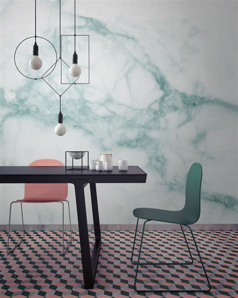 rote tapeten wandgestaltung murals wallpaper releases a marble collection design