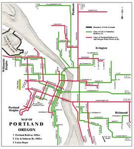 Portland Tram Map portland streetcar system