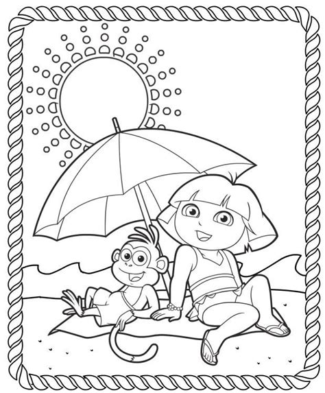 dora swimming coloring pages 166 best dora coloring pages images on pinterest dora