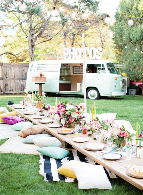 host  perfect bohemian chic outdoor dinner party
