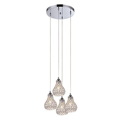 contemporary mini pendant lighting kitchen dinggu modern chrome finish 4 lights mini crystal pendant