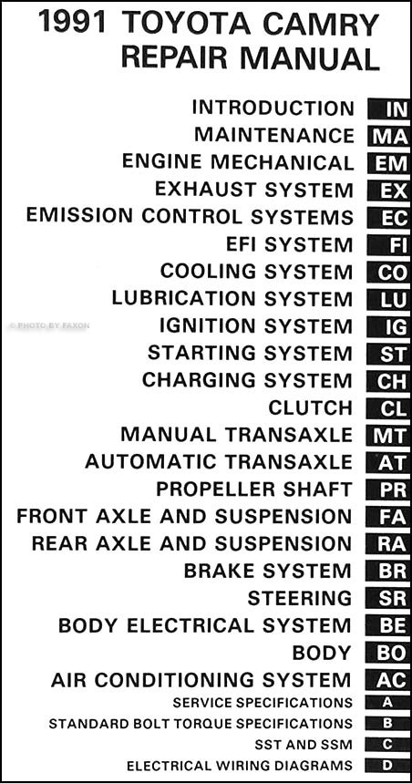 tire pressure monitoring 2011 toyota camry user handbook 1991 toyota camry repair shop manual original
