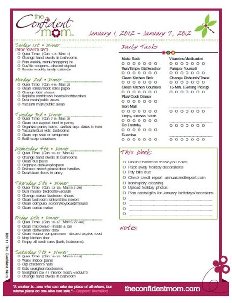 household planner 2012 weekly household planner the picky apple