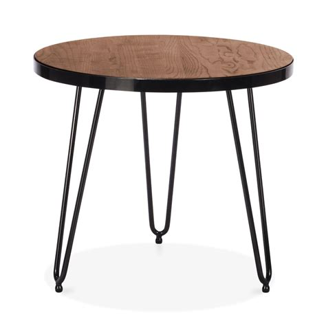 hairpin bench cult living 61cm hairpin side table in walnut cult