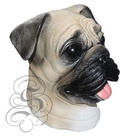 pug mask pug mask animal overhead mask