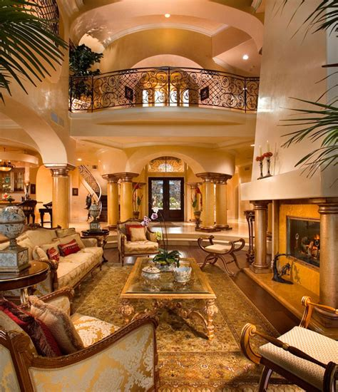 mediterranean living rooms 2 story great rooms homes of the rich