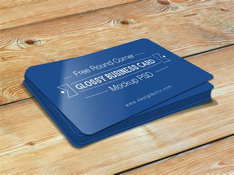 rounded business card template psd free corner glossy business card mockup psd by zee