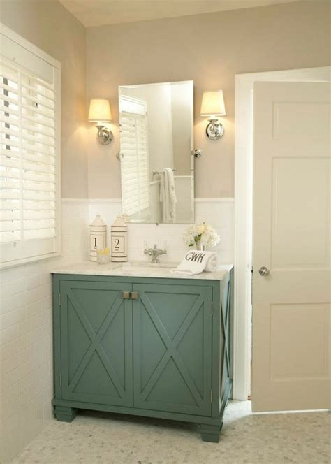 Coloured Bathroom Furniture Teal Vanity Contemporary Bathroom Farha Design