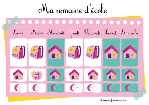 Calendrier Pour Enfant Calendrier Ou Semainier Enfant D Inspiration Montessori