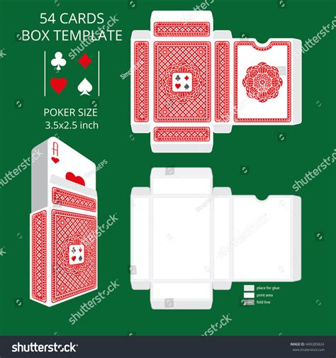 Tuck Box Template For Cards by Card Size Tuck Box Templatevector Stock Vector