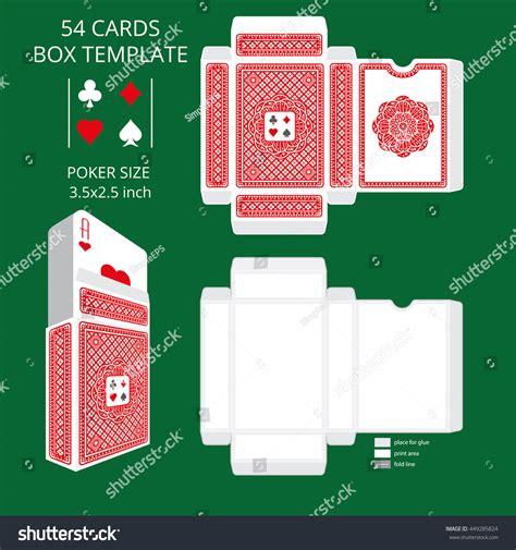 vector card tuck box template card size tuck box templatevector stock vector