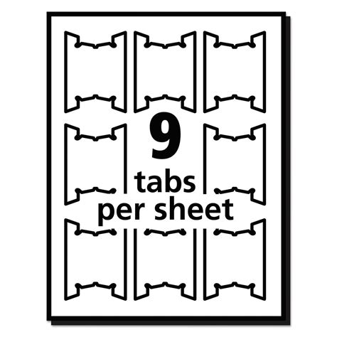Print Write On Hanging Tabs By Avery 174 Ave5567 Ontimesupplies Com Hanging Folder Tab Template