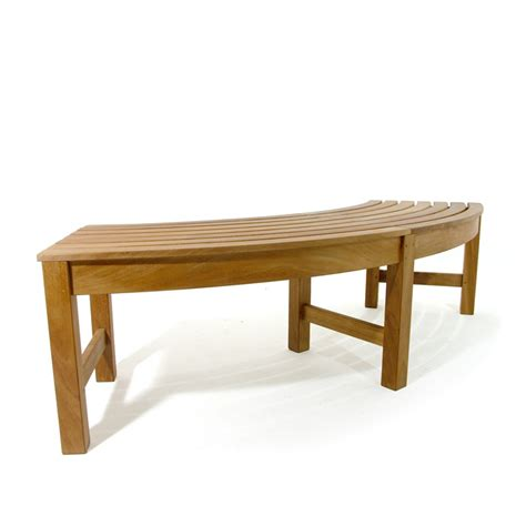 curved backless bench buckingham teak backless curved round bench westminster