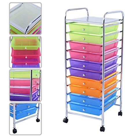 rolling tray drawer organizer kaysev 10 drawer rolling storage organizer cart multi