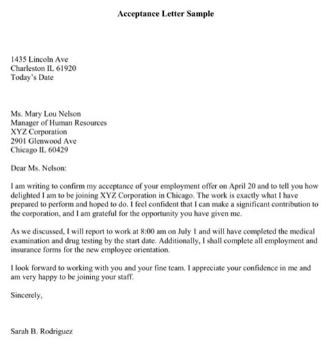 Letter Of Acceptance Lease Rental Application Acceptance Letter