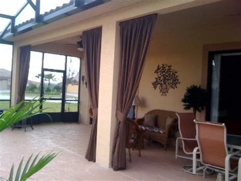 lanai ideas florida lanai decorating ideas sunbrella drapes