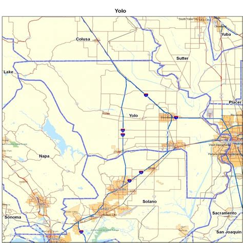 map of yolo county california yolo county ca california maps map of california