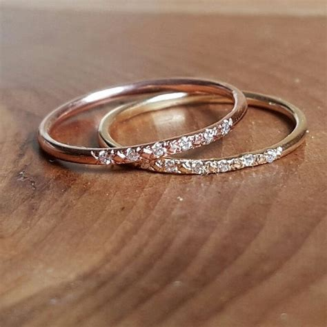17 Best ideas about Thin Wedding Bands on Pinterest   Gold