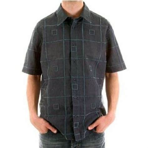 hugo boss pattern t shirt posh patterned blue short sleeve shirt by boss orange at