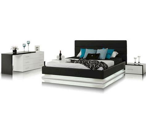 bedroom furniture set with platform bed contemporary bedroom set w platform bed with lights 44b180set