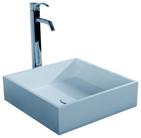 resin sinks bathrooms adm matte white countertop stone resin sink matte