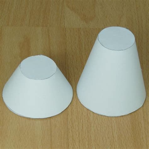 How To Make Cone From Paper - paper tapared cylinder truncated cone or conical frustum