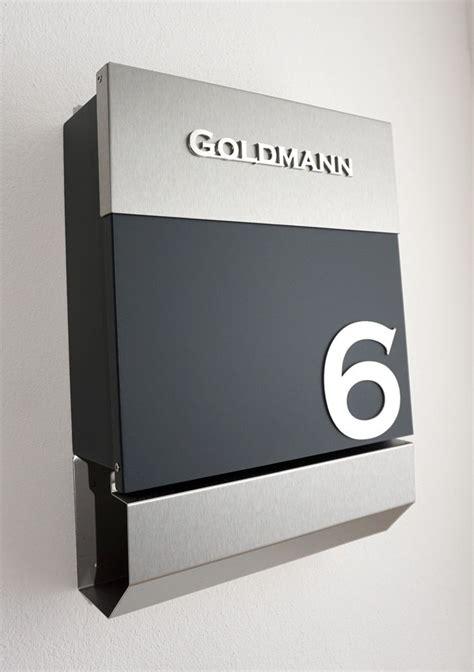 standbriefkasten mit hausnummer briefkasten standbriefkasten anthrazit edelstahl inkl
