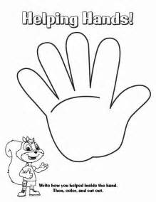 helping hand coloring page gallery