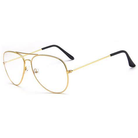 frame kacamata wanita classic aviator golden