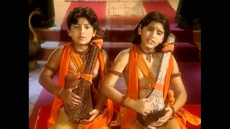 images of love kush luv kush singing ramayan for lord rama full song br