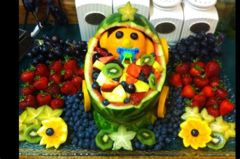 Baby Shower Fruit Basket Ideas by Baby Shower Fruit Basket Baby Shower Ideas