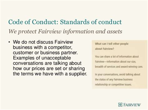 Code Of Conduct Jan 2015 Vendor Code Of Conduct Template