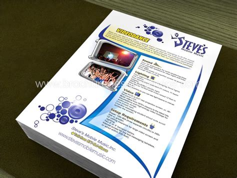 one sided brochure template flyer design of a dj flyer ideas templates