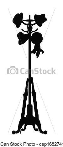 hatstand logo vector clip of hat stand with hats and umbrella hat