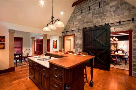 stone accent wall kitchen farmhouse with kitchen sink in 25 amazing stone accent walls page 2 of 5
