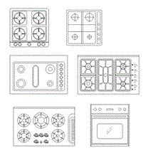 anafe bloque autocad cuisine dwg blocscad archithings pinterest