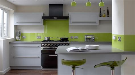 lime green kitchen ideas linear kitchen with lime green splashback from harvey jones