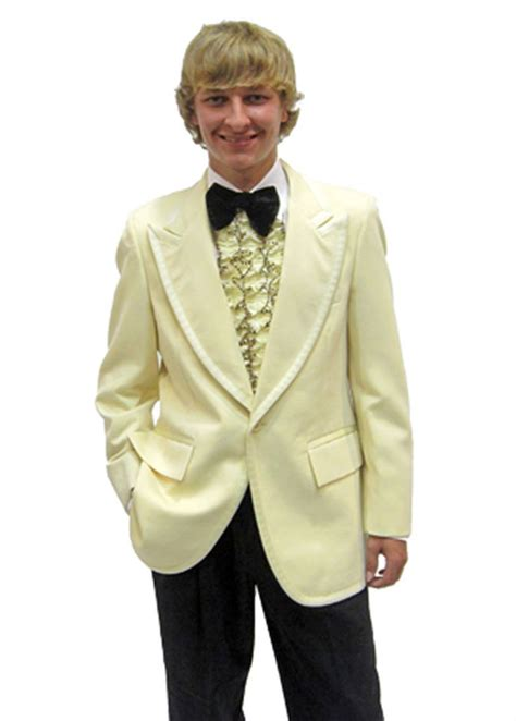50l mens vintage 1970s yellow tuxedo jacket 70s retro