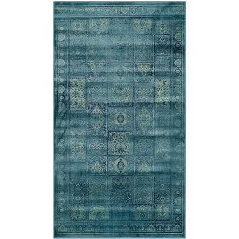 safavieh vintage turquoise multi 5 safavieh vintage turquoise multi 3 ft 3 in x 5 ft 7 in area rug vtg127 2220 3 the home depot