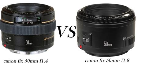 Lensa Canon Lens Ef 50mm lensa fix canon 50 mm f1 8 vs canon 50mm f1 4