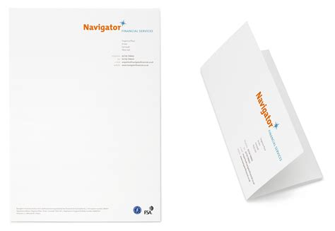 Finance Company Letterhead Navigator Financial Services Brain Aided Design